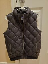 PATAGONIA Black Quilted Puffer Goose Down Vest Women's Medium Mint Clean Cond