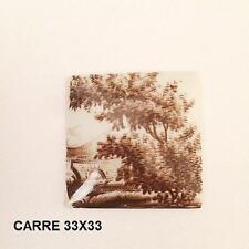 LIMOGES 1 PLAQUE PORCELAINE LIMOGES 33/33 DECOR PAYSAGE SEPIA