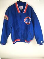 Chicago Cubs Diamond Collection Nylon Starter Jacket Large Vintage Wrigley Field