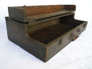 French Victorian,wooden,shop display chest,box,trunk old primitive storage box