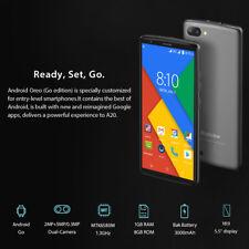 Nuovo! Blackview A20 5.5'' 18:9 HD Android 8.0 8GB 3G Smartphone 3*Camera Nero