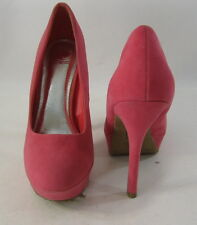 """Womens Pink 5.5"""" High Heel 1.5"""" Platform Round Toe Sexy Shoes Size 9"""