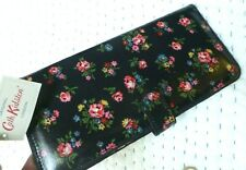 new cath kidston purse wallet with tags black with pink roses