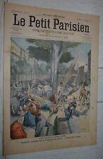 PETIT PARISIEN 1905 BOMBE A BARCELONE / ELEPHANT SAÏD TUE GARDIEN JARDIN PLANTES
