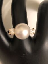 South Sea Pearl(12MM)Diamond(1CT)18 KT Ring Neiman Marcus NO RESERVE!