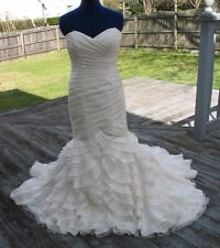 Mikaella Strapless Mermaid Wedding Dress-Italian Taffeta and Organza Layers