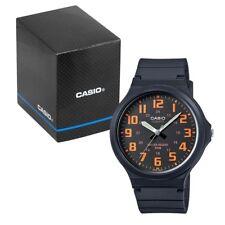 Casio Men's Quartz Watch with Orange Dial and Black Resin Strap MW-240-4BVEF