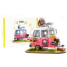 Miniature Dollhouse Limousine Handcrafted Model Kits DIY Toy Gift for Girl Women