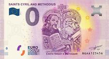 Billets Euro Schein Souvenir Touristique 2019 Saints Cyril and Methodius