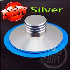 New Silver Record Weight Clamp LP Vinyl Turntables Metal Disc Stabilizer