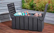 Large Garden Outdoor Storage Box Chest Grey - 300L