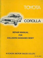 1979 TOYOTA COROLLA UNFALLSCHADEN REPARATURANLEITUNG COLLISION DAMAGE MANUAL