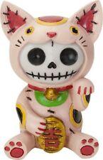 NEW Furrybones Furry Bones Maneki Neko Cat Skull Skeleton Figurine Gift 9176