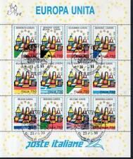 1993 italia repubblica Foglietti Benvenuta Europa unita usata