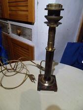 PIED DE LAMPE de bureau lamp de style  ART DECO laiton et tole