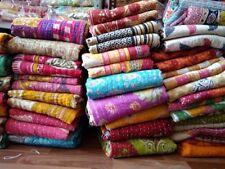Indian Kantha Quilt Handmade Patchwork Reversible Bedspread Blanket Lot 10 Pcs