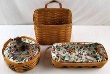 Lot of 3 Longaberger Baskets