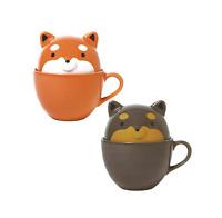 TaruShiba mug cup set Prize Shibainu dog Brown Black TAITO From JAPAN
