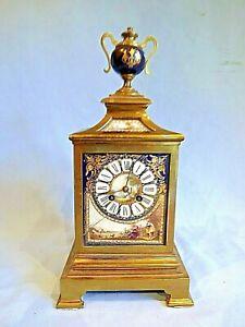 19c French Porcelain Panel Clock For Restoration.