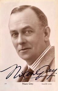 NIXON GREY :COMEDIAN AND SINGER RARE AUTOGRAPHED PHOTO 1880 - 1952