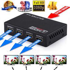 4K 1 In 4 Out Verteiler HDMI Splitter Switch 1x4 1080p Full HD Verstärker f HDTV