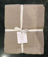 "William Sonoma Linen Double Hemstitch Tablecloth, Size 70 X 90"" New w/$119.95Tag"