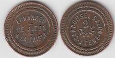 Jeton Token Roulette Casino um 1900 France Frankreich copper carrousel