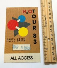 DARYL HALL JOHN OATS H2O TOUR 1983 BACKSTAGE PASS! W@W! L@@K NEW!!
