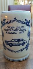 Vtg Delft Blue White Crown Diesel Mug Tankard Stein Toyota Dealer meeting Nov.79