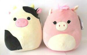 Squishmallow Plush Doll, Cow Squishmallow & Pegasus Squishmallow 2 Plush Doll