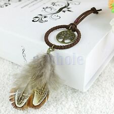 Vintage Hollow Tree Feather Dream Catcher Pendant for Key Chain Bag Phone Hot TW