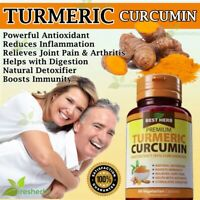 TUMERIC CURCUMIN Antioxidant Arthritis Joint Pain Gout Detox Supplement 60 Caps