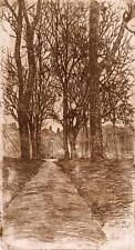 ARTS & CRAFTS TREES Original Etching FRED E. BOLT c1910