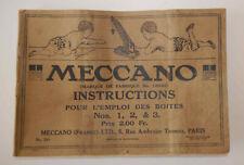 Très ancien catalogue instructions jouets Meccano n° 18A (1918)