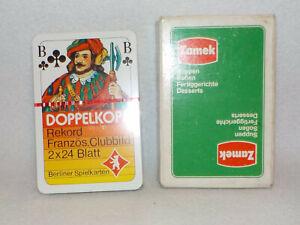 ++ Zamek Suppen - Doppelkopf - Berliner Spielkarten  - Werbung / Reklame   ++