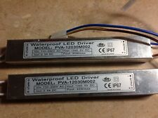 Lote Of 2 30 Watt Waterproof LED Driver Transformer 120 to 12 Volt Dc Output
