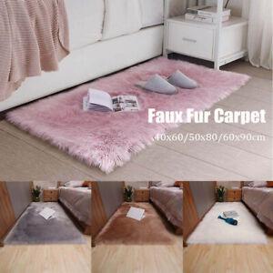 Plush Fluffy Floor Carpet Faux Fur Area Rugs Sheepskin Soft for Bedroom Floor
