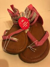 """Girls Fuchsia & silver sandals """"Justice"""" , Nbw, New w/tags, Size 3"""