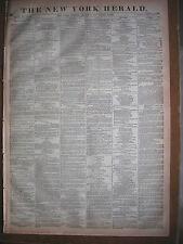 The New York Herald newspaper 1870, Uxbridge Seven Murder Trial. The War w/Map