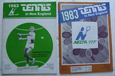 1982 & 1983 Yearbook for Youth Tennis New England Lawn Tennis - Barbara Potter