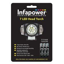 INFAPOWER portable 7 Led torche frontale Flaslight pour randonnée camping voyage