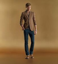 Gucci Runway HERITAGE Silk-Cotton Tan Blazer Jacket 46 IT CRISTIANO RONALDO,RARE