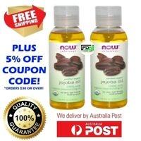 NOW FOODS - 100% Pure Jojoba Oil NON GMO Certified Organic 118ml Skin Hair Body