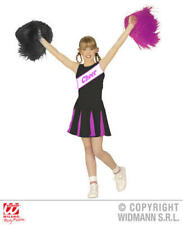Girls Kids Childs Cheerleader Black/Pink Fancy Dress Costume Outfit 2-3 Yrs