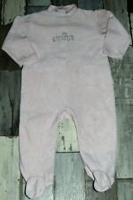 BOUT'CHOU ~ Superbe Pyjama en velours rose Taille 18 mois ~ REINE DES BISOUS