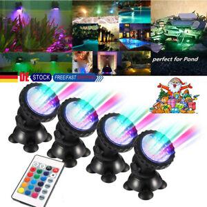 Wasserdichte Beleuchtung,Mehrfarbige RGB-13-LED-Perlen mit RF-Fernbedienung,f/ür Teich Schwimmbad Garten Vase Party Fest Dekoration 2 Stk Mlife Poolbeleuchtung Unterwasser Led Licht
