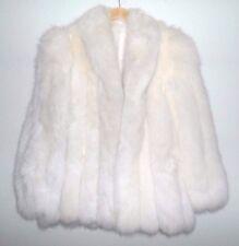 SAGA FOX WHITE FUR COAT UNISEX WHITE JACKET SIZE XL