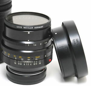 Leica M 1/50mm E58 Noctilux with 12519 Hood and RARE Uva Leitz Filter