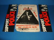 The Police - With Stickers Concert Handbill Flyer,Dallas - Ft.Worth,Tex. Smu