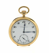 Patek Philippe Open Face Lentille Style 14K Yellow Gold Pocket Watch Circa 1919